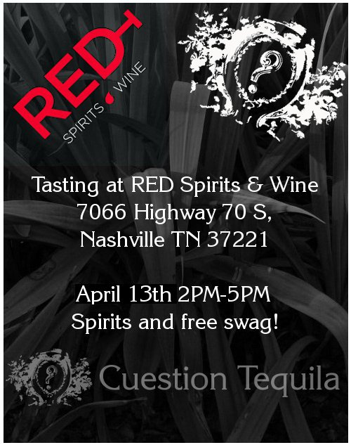 Cuestion Tasting 4/13 at RED from 2-5PM