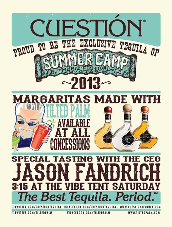 Cuestion is the exclusive tequila of Summer Camp